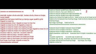 Nigaah e naaz ke ( Barsaat Ki Raat ) Free karaoke with lyrics by Hawwa -