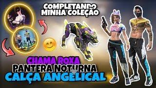 COMPREI O NOVO PET PANTERA NOTURNA AMEAÇA ROXA E A CALÇA ANGELICAL NO FREE FIRE