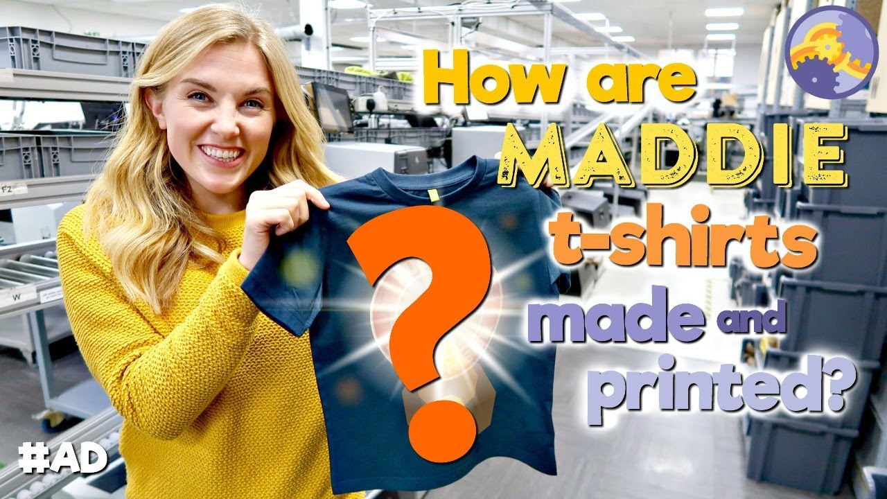 How are Maddie T-Shirts Made and Printed?! #AD | Maddie Moate