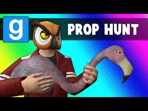 Thumbnail: Gmod Prop Hunt Funny Moments - Flamingos & Glasses (Garry's Mod)