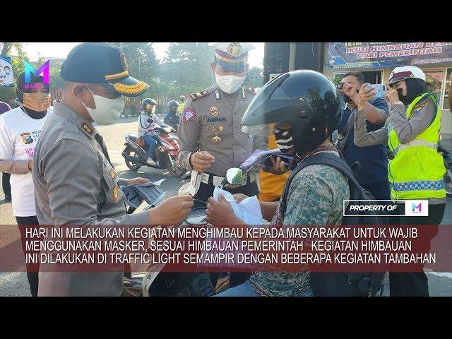 Polres Kediri Kota melakukan pembagian masker