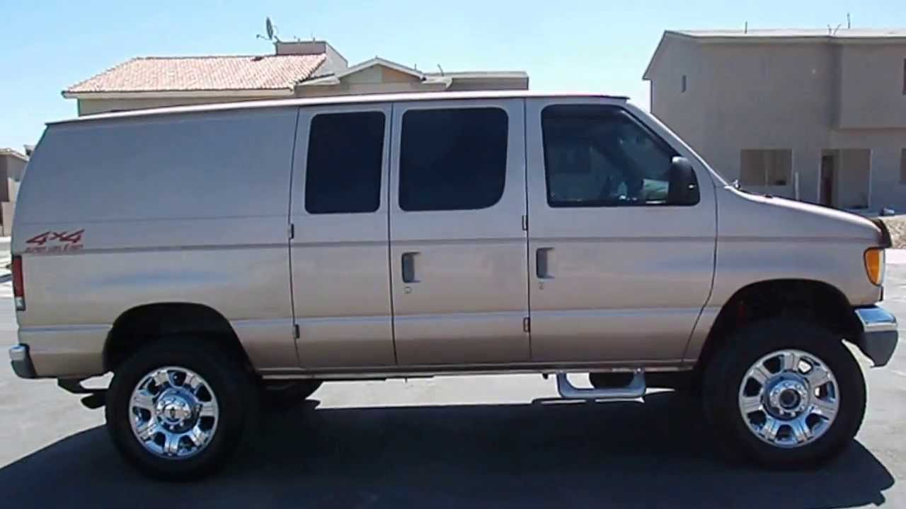 1998 ford e350 diesel van 4x4 youtube. Black Bedroom Furniture Sets. Home Design Ideas