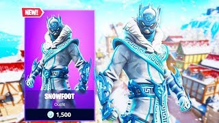 The New SNOWFOOT SKIN in Fortnite..