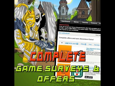HOW TO COMPLETE GAME OFFERS/SURVEYS EASILY (PEANUT LABS, SUPERSONIC ETC.) AEXTRAS AQW