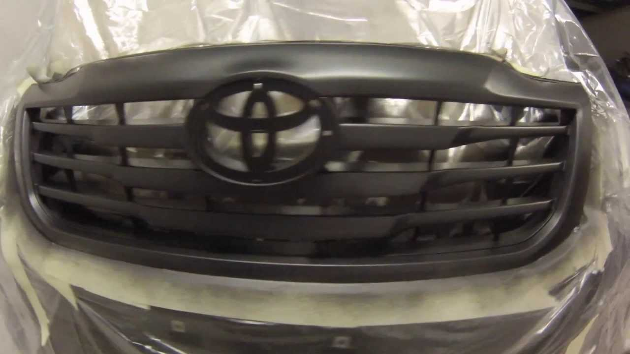 Plasti dip front grille - Toyota Hilux - YouTube