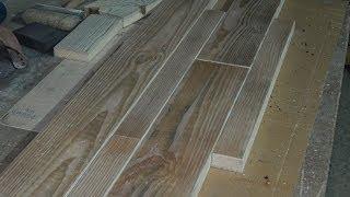 Половая доска в стиле кантри своими руками. DIY: Wood Flooring in country style.(Доброго времени суток. Решил снять небольшое, пробное видео. Специально не готовился, получилось больше..., 2014-02-02T18:36:35.000Z)