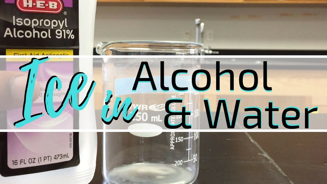 density alcohol water