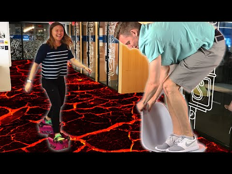People Play The FloorIsLava Challenge For A Day