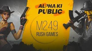 🔴PUBG MOBILE LIVE : M249 RUSH GAMES AND NEW GLITCHES! || H¥DRA | Alpha😍