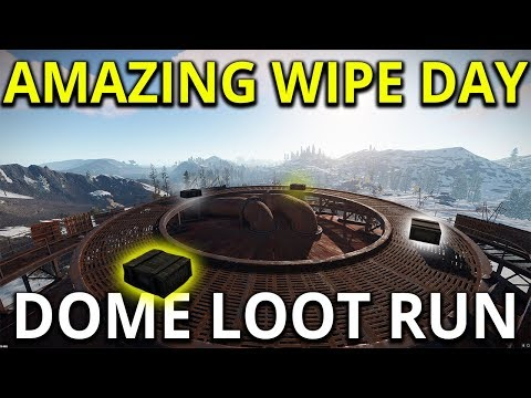 The Dome Gives Amazing Wipe Day Loot - Rust Solo Survival Gameplay