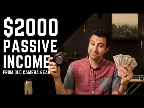 How To Make Passive Income Renting Out Your Camera Gear