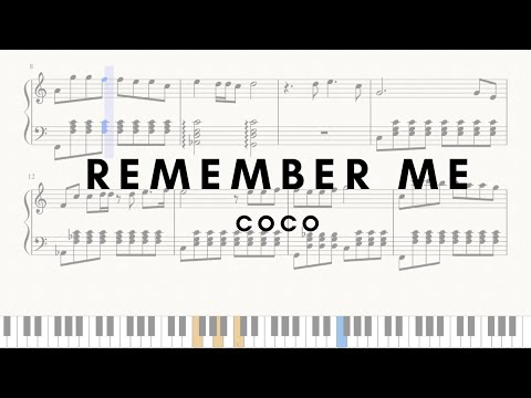 Coco - Remember me (Lullaby) Easy piano (FREE SHEETS)
