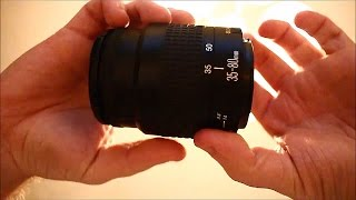 OLD 35-80mm Canon Lens Review and video test on Rebel T5i DSLR