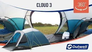 Outwell Cloud 3 Tent - 360 video (2019)