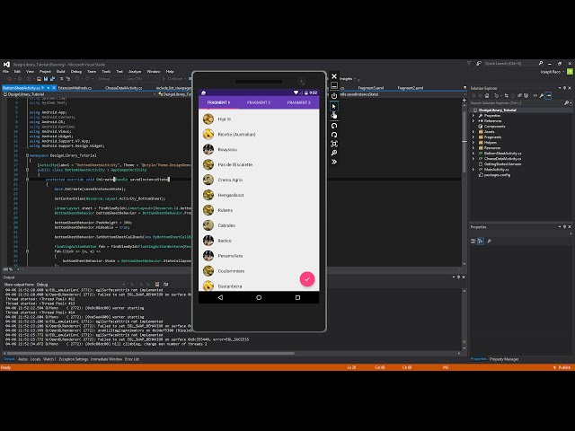 Xamarin Android Tutorial 83 Design Library Pt 5