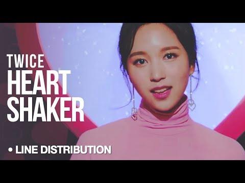 TWICE (트와이스) - Heart Shaker : Line Distribution