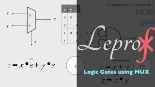 ⨘ } VLSI } 7 } Logic Gates using Multiplexers }