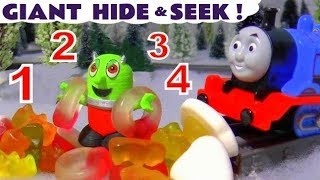 Funny Funlings Giant Hide and Seek with Thomas and Friends Toy Trains and Candy TT4U