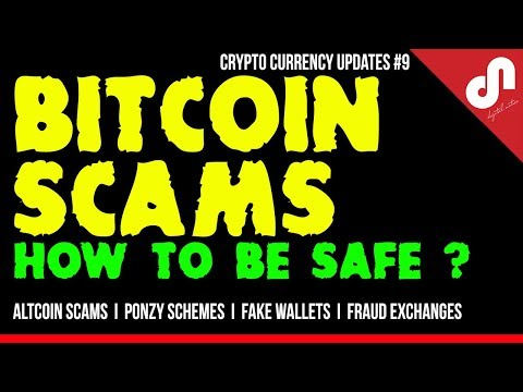 Bitcoin Scams And Ponzy Schemes - How To Protect Yourself - Crypto Currency Updates #9 [Hindi]