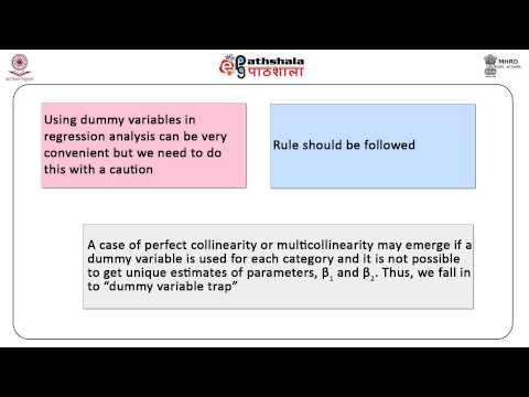Binary variables in linear regression- use of dummy variables (BSE)