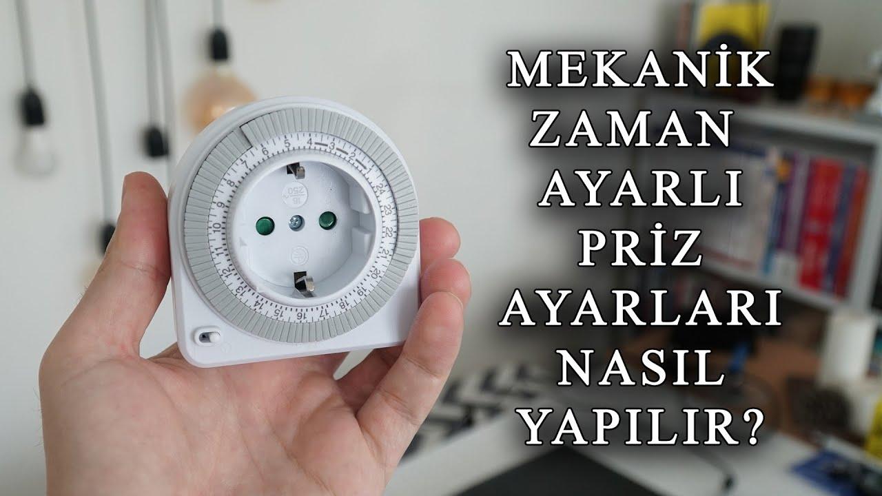 Mekanik zaman saatli priz nasıl ayarlanır ve nerelerde kullanılır.
