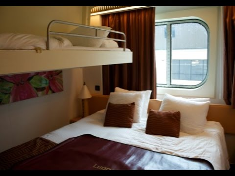 Carnival Magic Cruise Ship:  Ocean View Stateroom Tour