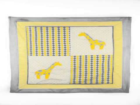 Details Pam Grace Creations Argyle Yellow 10 Piece Crib Bedding Set Slide