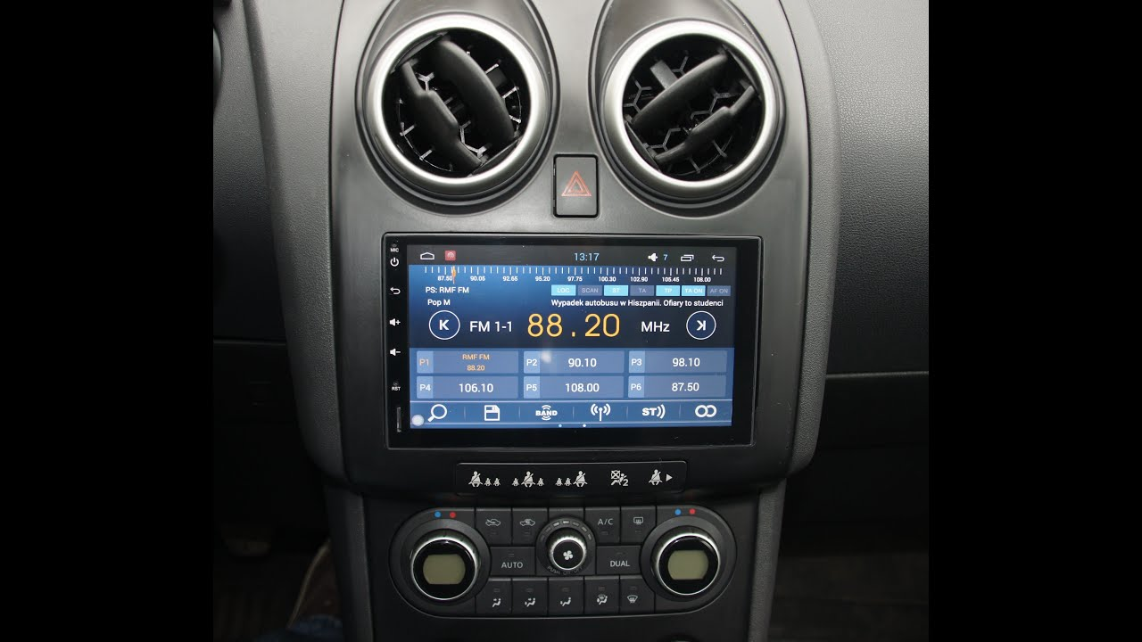 multimedia witson 7 gps system nissan qashqai android 4. Black Bedroom Furniture Sets. Home Design Ideas