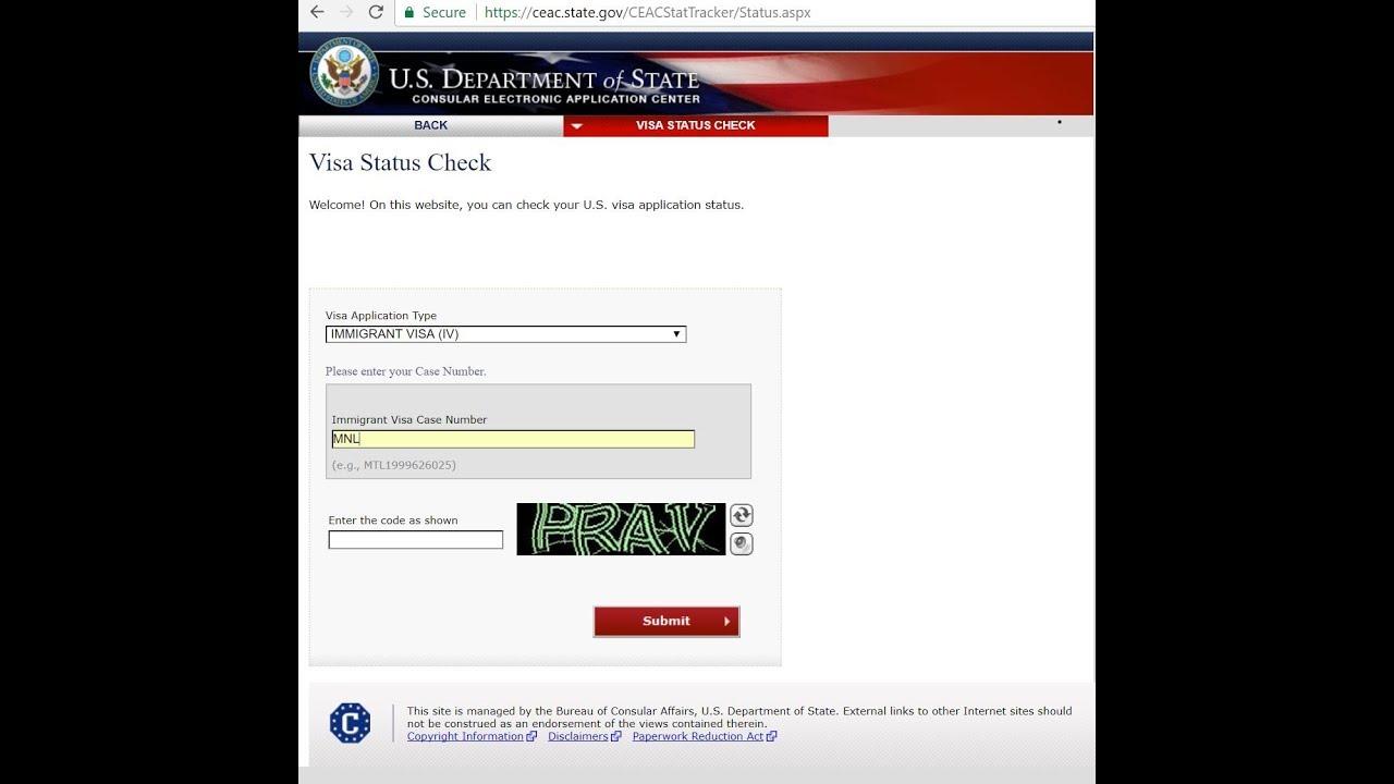 Check My Visa Status