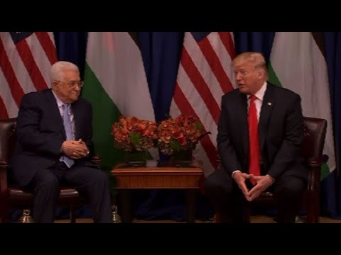 Donald Trump meets with Palestinian President Mahmud Abbas