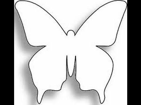 Descargar patrones para crear mariposas youtube - Papel para dibujar ...