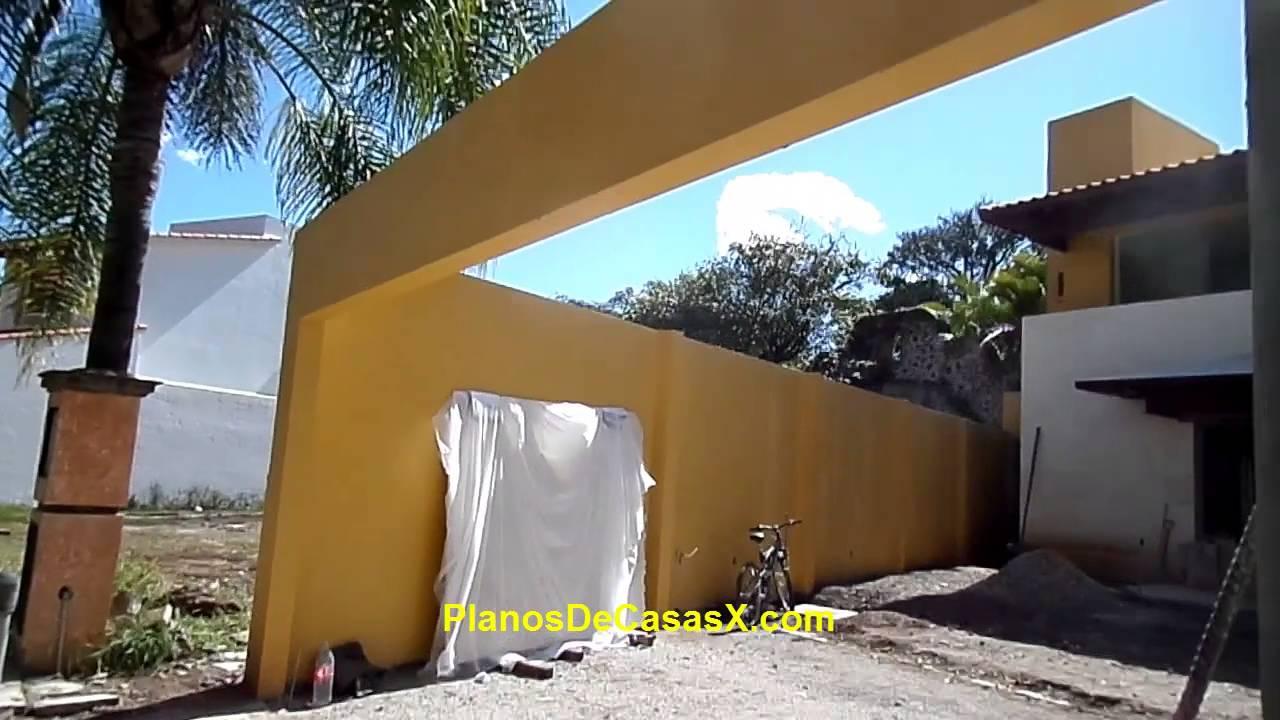 Trabe curva de concreto armado y detalle de pergolas en - Pergolas de cemento ...