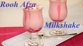Rooh Afza milkshake Recipe in 5 min. (HINDI)
