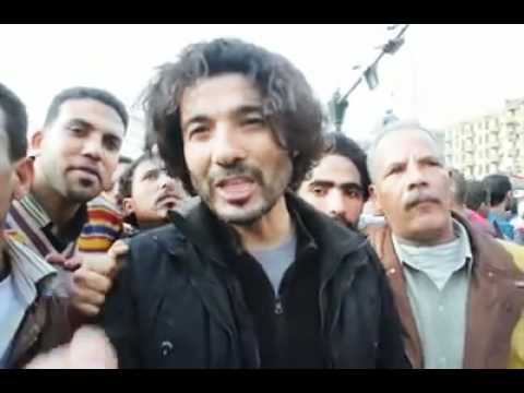 Egyptian Actor Khaled Nabawy speaks from Tahrir Square
