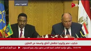 وزير الخارجية: مصر تسعى لتوسيع حركة التجارة مع إثيوبيا