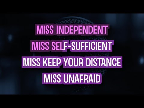 Miss Independent Karaoke Version by Kelly Clarkson (Video with Lyrics)