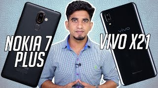 vivo X21 vs Nokia 7 Plus: Comparison overview [Hindi हिन्दी] Twitte...