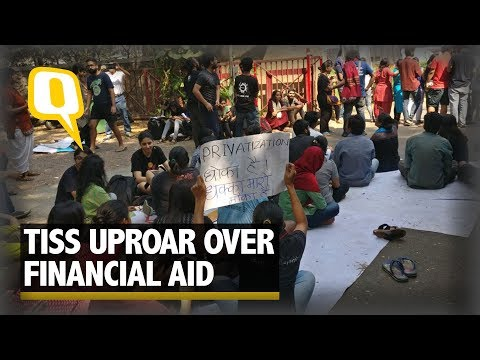 TISS Students Protest Over Withdrawal of Financial Aid | The Quint