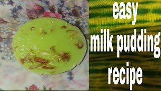 How to make milk pudding|| Milk pudding recipe|| Faluda recipe|| Indian desserts