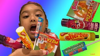 Ishfi Unboxing Lots Colorful and Yummy Candy