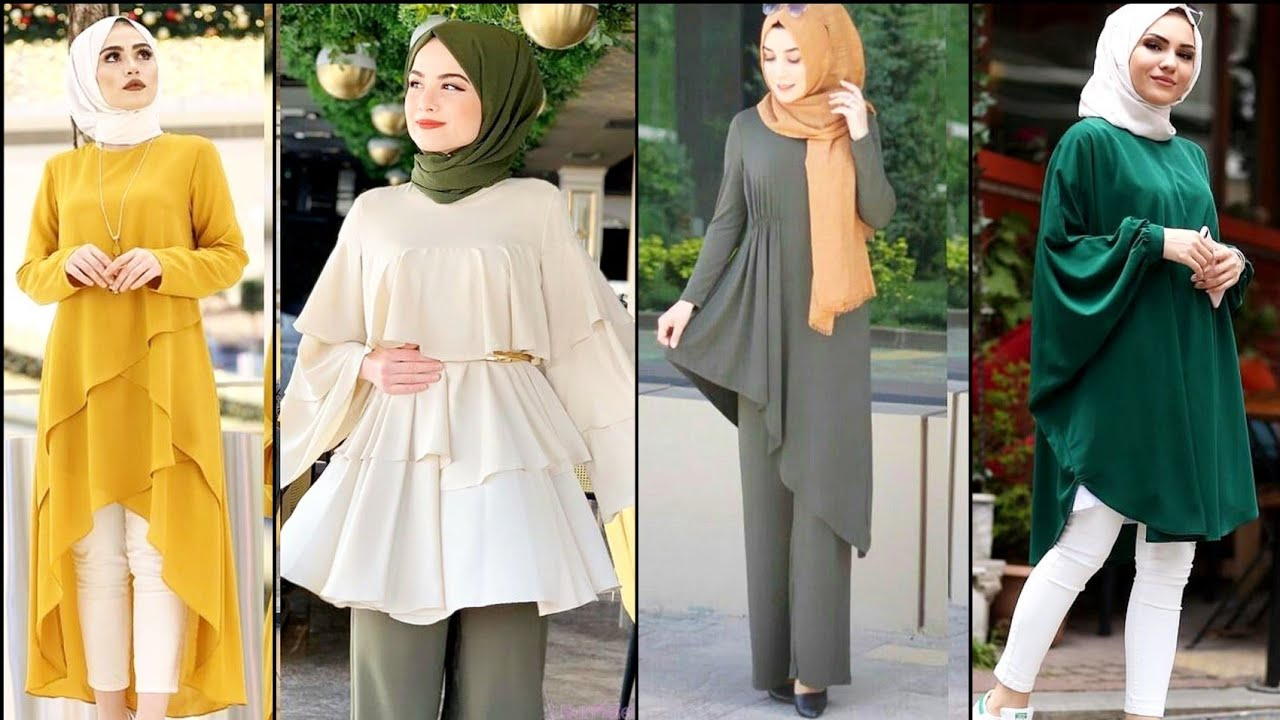 STYLISH Modern Style Suits Design Ideas For College & Office GirlsIslamic  Hijab Suit Design