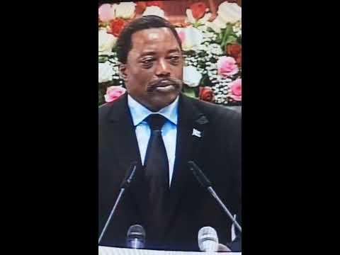 Discours de Joseph Kabila devant les deux chambres réunies en congrès extraordinaire