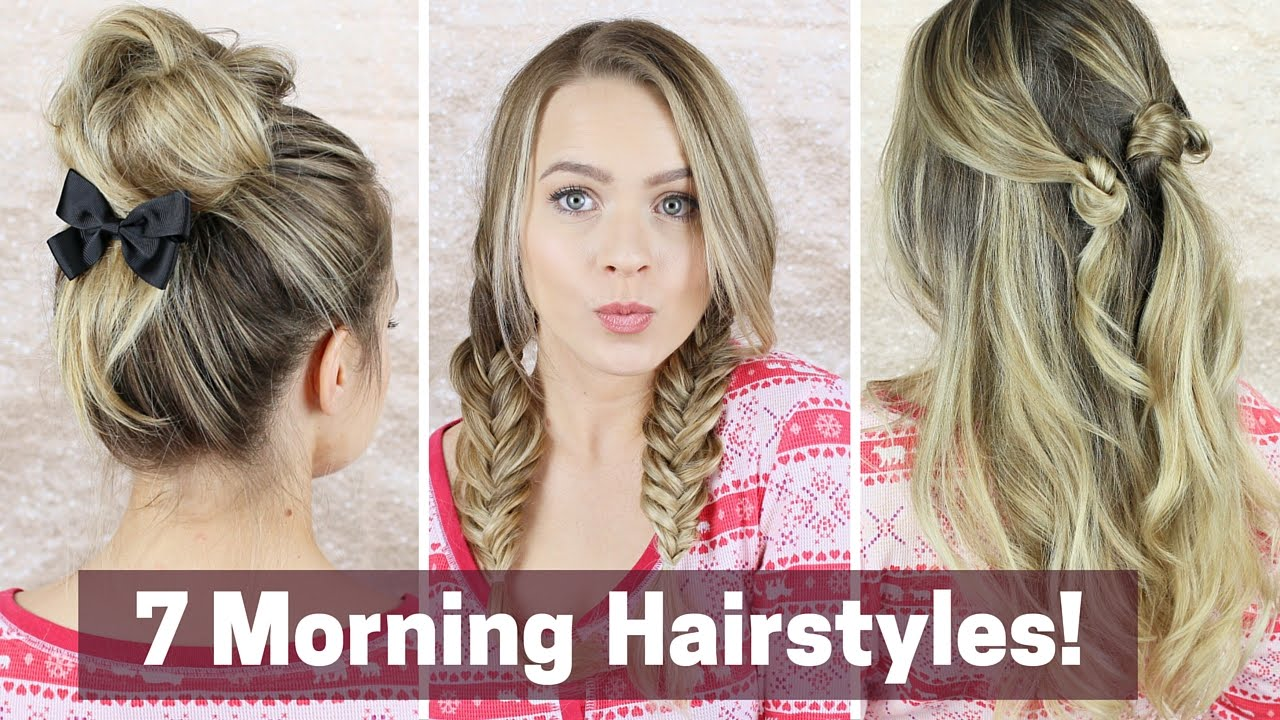 7 quick morning hairstyles!