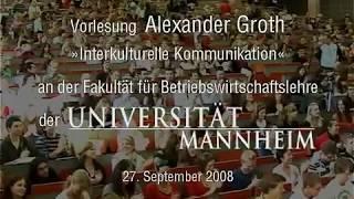 Alexander Groth - Uni-Vorlesung