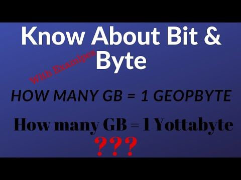 Know About Bit And Byte With Real Life Examples - Petabyte, Yottobyte, Geopbyte Etc