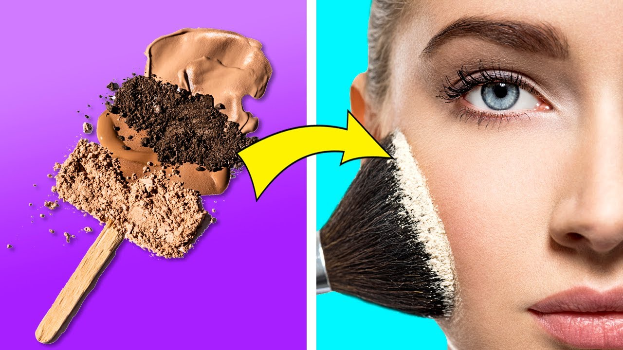 Beauty Hacks That Will Change Every Girl's Life || DIY makeup with food!