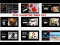 Valentine Day Week  List of 7 to 14 February 2018