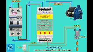 Relay phao điện bơm nước an toàn tự động tiện lợi giá thành rẻ cho người dân