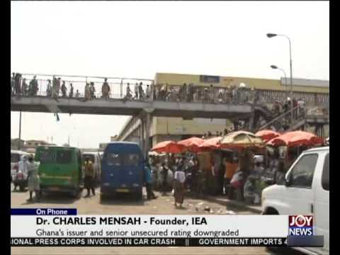 Moody's Rating Affects Ghana - Today's Big STory on Joy News (13-10-15)
