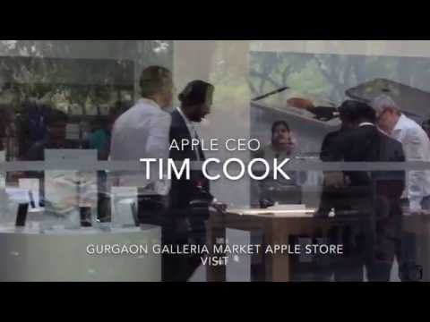 Tim Cook visits Apple Store in India